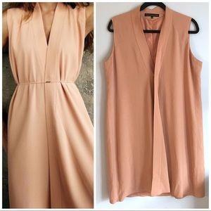 Francisco Costa Calvin Klein peach sheath dress